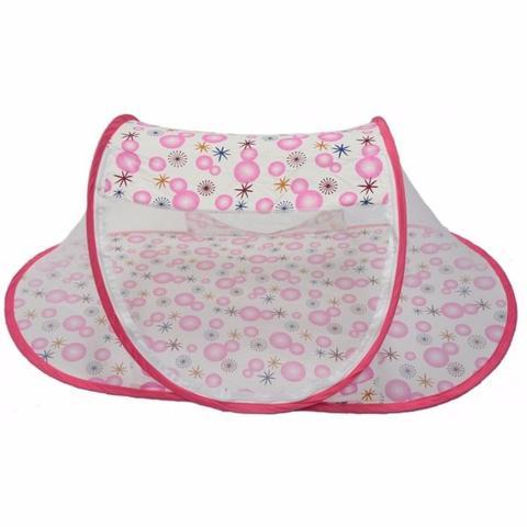 Imagem de Tenda cercadinho portátil mosquiteiro rosa