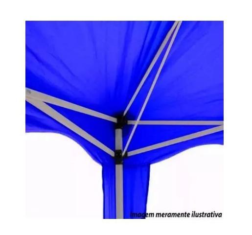 Imagem de Tenda Gazebo Barraca 3x3 Sanfonado Articulada Desmontável Praia Camping Jardim Piscina Azul