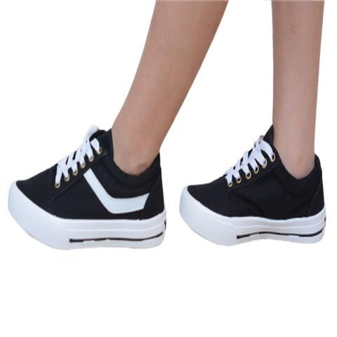 Imagem de Tênis Casual Star Feet Infantil FI015C Preto/Branco