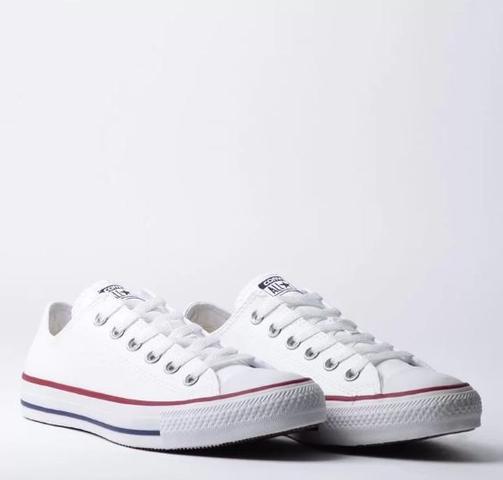 Imagem de Tênis converse chuck taylor all star couro branco vermelho ct04500001
