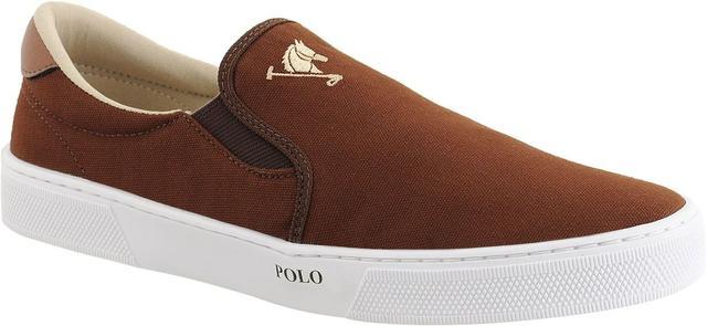 Imagem de Tenis Masculino Sapato Polo Joy Iate Com Elástico Marrom
