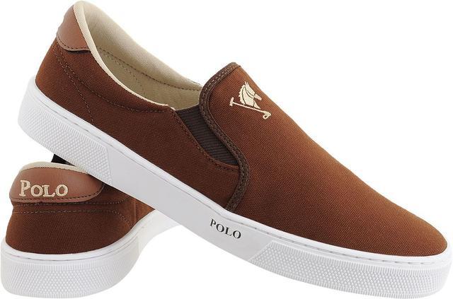 ac6f19817b Tenis Masculino Sapato Polo Joy Iate Com Elástico Marrom - Tênis ...