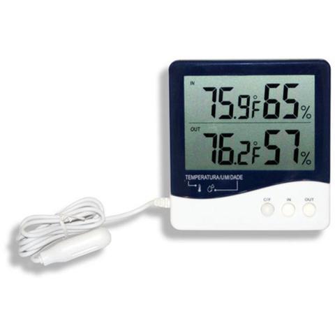 Imagem de Termo-higrômetro digital com temperatura e umidade interna e externa Incoterm