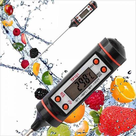 Imagem de Termômetro Culinário Digital Espeto Alimento Cozinha Liquido