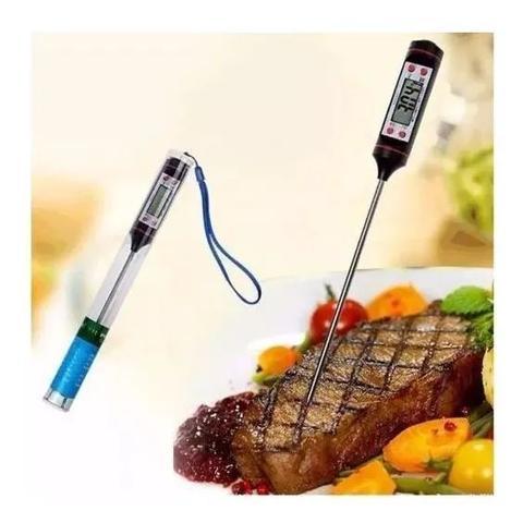 Imagem de Termômetro Culinário Digital Espeto Alimentos Cozinha Forno
