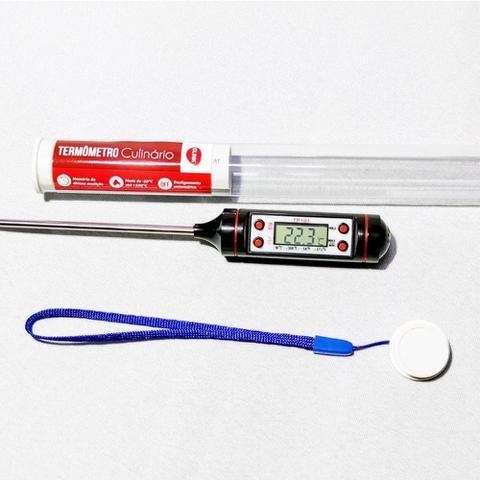 Imagem de Termômetro culinário digital inox 23cm -50 até 300