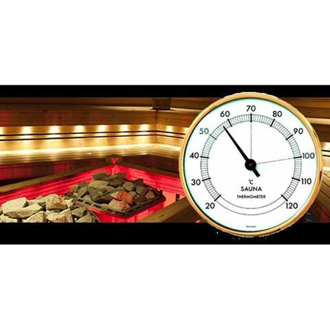 Imagem de Termômetro de sauna +20+120:1C Diametro 100MM