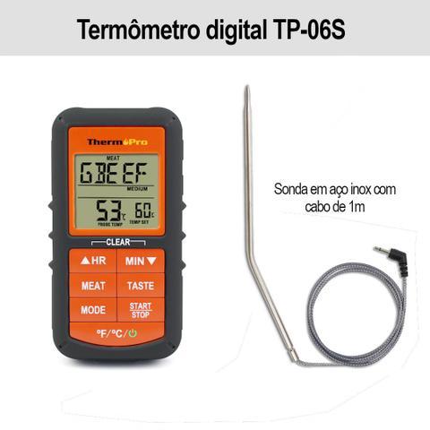 Imagem de Termômetro digital alimentos com cabo Thermopro TP-06S