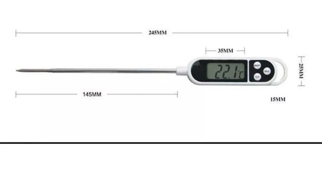 Imagem de Termometro Digital Culinario Tipo Espeto Alimentos Cozinha