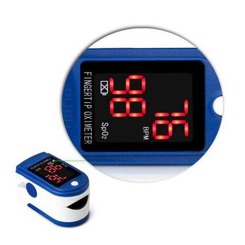 Imagem de Termômetro Digital Medição Oxigênio Temperatura Febre Líquidos + Oximetro Digital Dedo  Premium