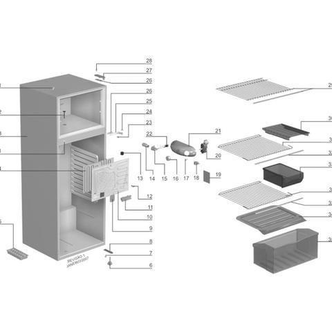 Imagem de Termostato Baixo Ruído Para Refrigerador Electrolux DC360 DC39 - 64786916