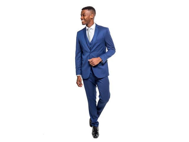 Imagem de Terno Slim Masculino Oxford Azul Royal Jordhan