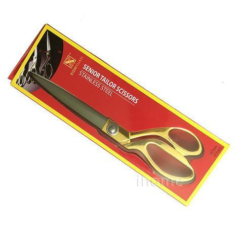 Imagem de Tesoura Alfaiate 24cm Costureira Profissional Tecido Dourada