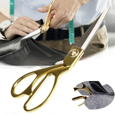 Imagem de Tesoura Senior Profissional Dourada Costureira Alfaiate Ouro