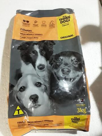 Imagem de Three  dogs  premium especial original filhotes  raças medias  a grandes    3 k