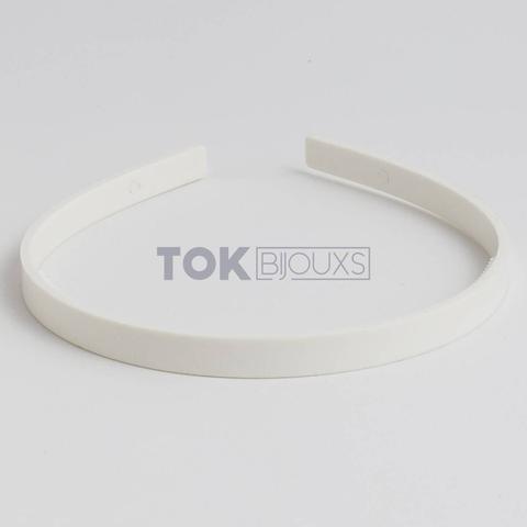 Imagem de Tiaras Simples 10mm - Dentinho - Branca - 12  Unid