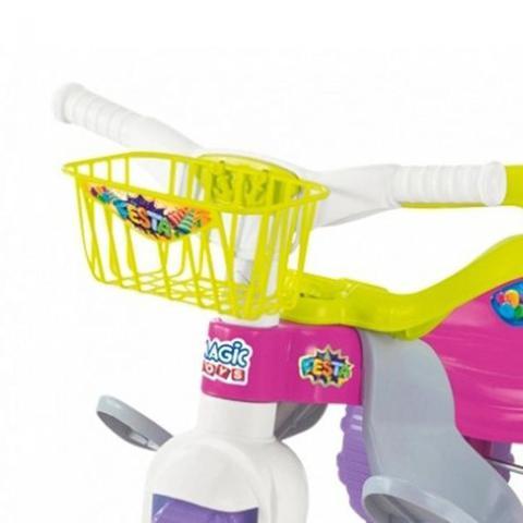 Imagem de Tico Tico Festa Motoca Triciclo Rosa Infantil com Proteção