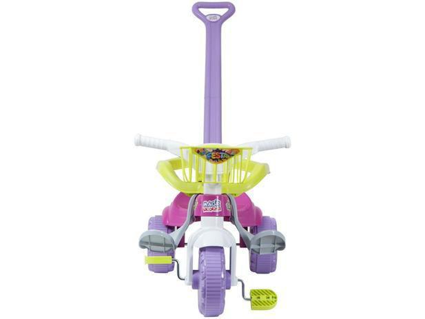 Imagem de Tico Tico Festa Rosa Motoca Infantil Com Cestinha Magic Toys