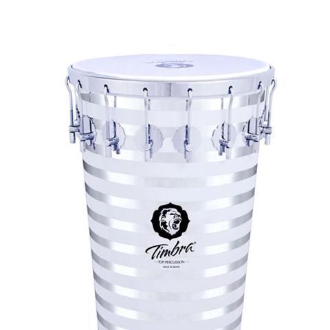 Imagem de Timbal 14'' por 90 cm de Alumínio Pintado Helicoidal com Aro Cromado e Pele Leitosa