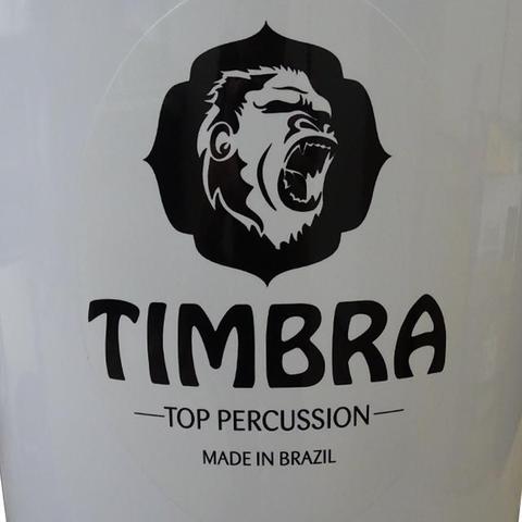 Imagem de Timbal Timbra 14 Polegadas 90 cm de Alumínio Aro Cromado e Pele Leitosa