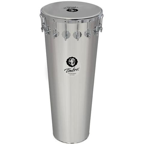 Imagem de Timbal Timbra 8261 14  X 90Cm Alumínio Aro Cromado Pele Leitosa - Percussão Brasileira