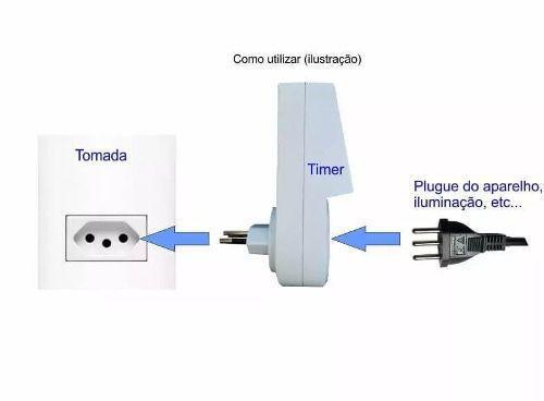 Imagem de Timer Temporizador Digital Programa Diário Bivolt Liga Desliga