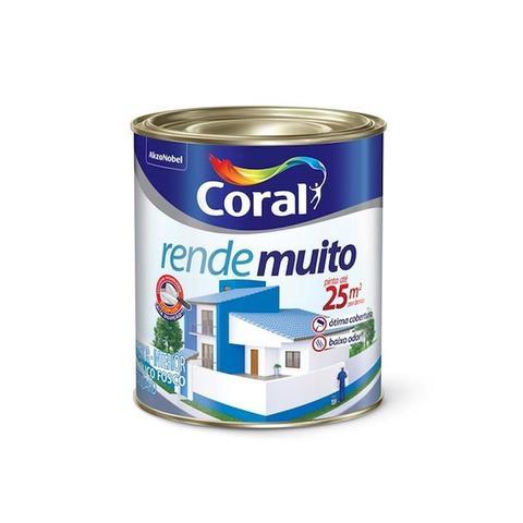 Imagem de Tinta Acrílica Rende Muito Branco Fosco 900ml - Coral