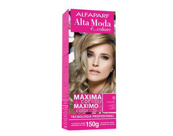 Imagem de Tinta alta moda alfaparf kit cor 9 camomila louro claríssimo