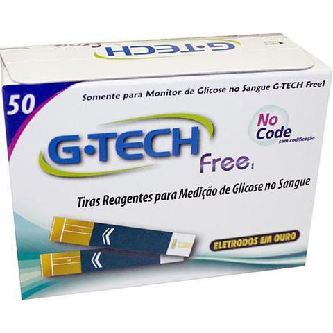 Imagem de Tiras para Medidor de Glicose Free 1 G-Tech TTFR150 com 50 Unidades