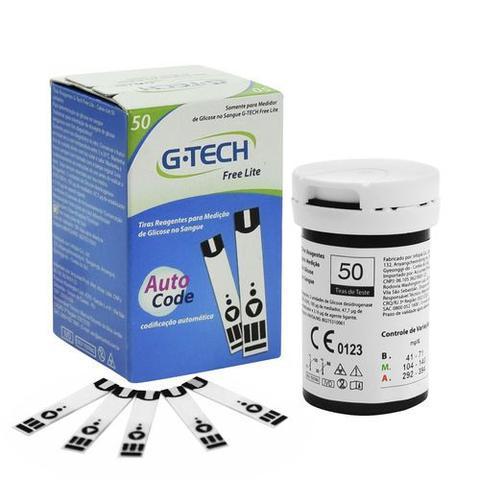 Imagem de Tiras Reagentes G-Tech Free Lite  Glicemia 50 Unidades