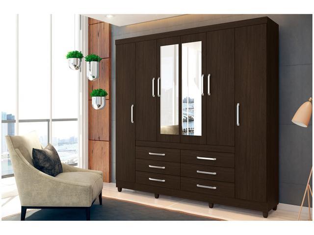 Imagem de Guarda-roupa Casal 6 Portas 6 Gavetas Demóbile