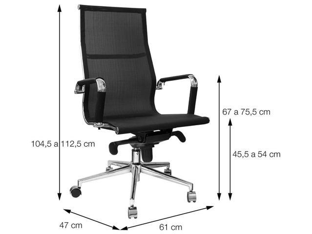Imagem de Cadeira Cromado para Escritório Giratória