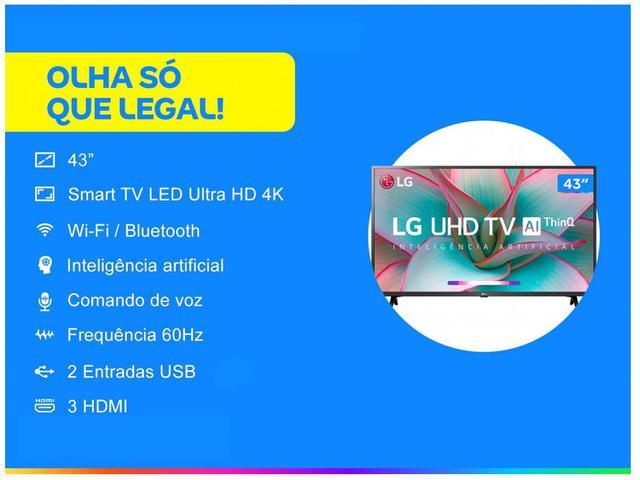 """Imagem de Smart TV 4K LED IPS 43"""" LG 43UN7300PSC Wi-Fi"""