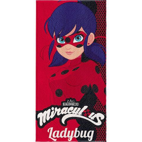 Imagem de Toalha de Banho Infantil Miraculous Ladybug Lepper Sortida