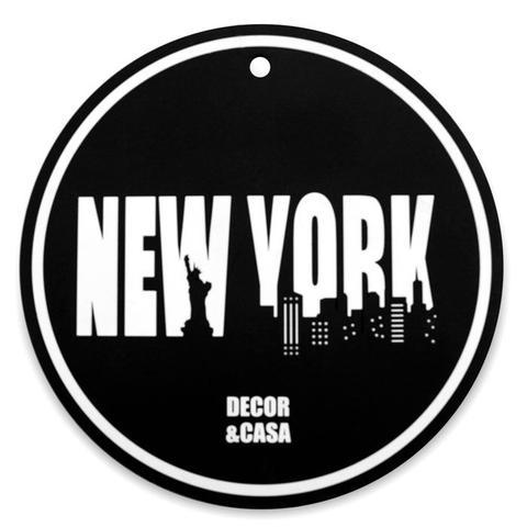 Imagem de Toalha de mesa 6 lugares, 8 porta copos e descanso de mesa - New York