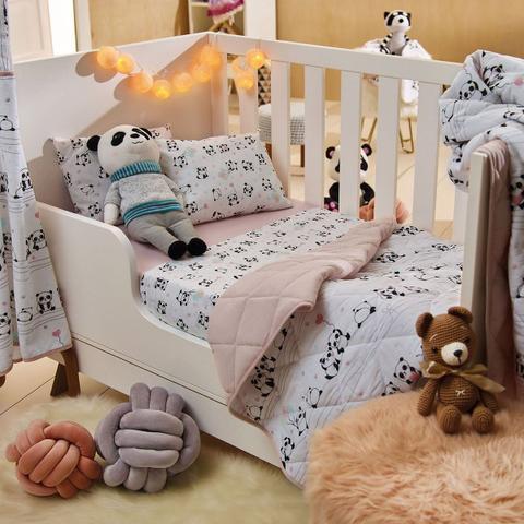 Imagem de Toalha Infantil Panda Baby Com Capuz Santista