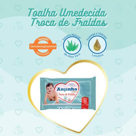 Imagem de Toalha Umedecida Anjinho Confort Troca de Fraldas c/ 50 unidades Parentex