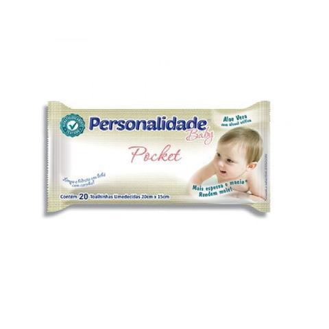 Imagem de Toalhas umedecidas personalidade baby pocket c/20