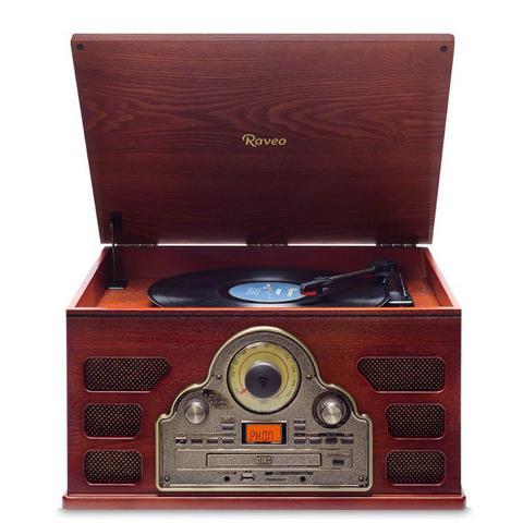 Imagem de Toca-Discos Tenor Raveo Bivolt Com Rádio FM Conexão Bluetooth e Entrada USB