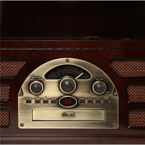 Imagem de Toca-Discos Vinil Retro Woodburn Tabaco 37.967 Classic
