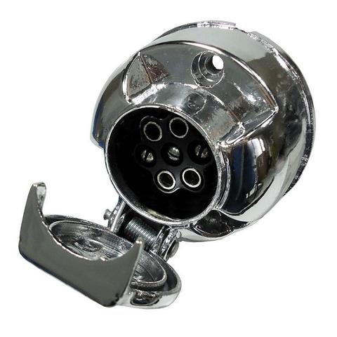 Imagem de Tomada Engate de Reboque Elétrica Fêmea em Alumínio 12V 24V 6 Polos