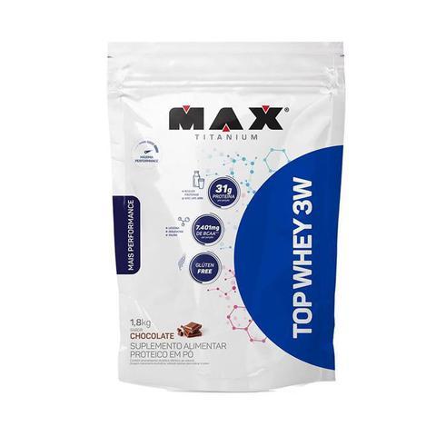 Imagem de Top Whey 3w Mais Performance 1,8kg Refil Max Titanium