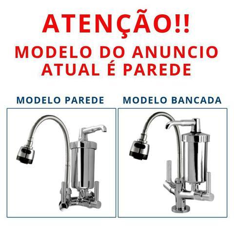 Imagem de Torneira Com Filtro Gourmet monocomando Pia Cozinha Parede Metal Inox Cromada flexivel chuveirinho