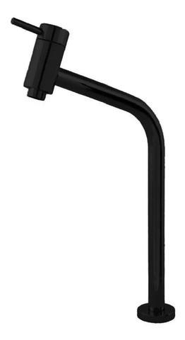 Imagem de Torneira de metal preta bica alta
