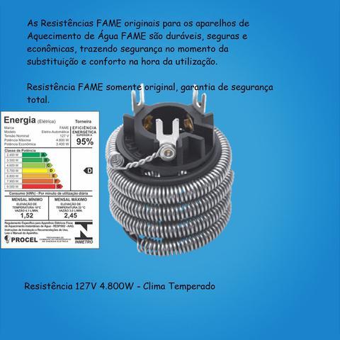 Imagem de Torneira Elétrica Fame 1/4 Polegadas Bica Reta 127V Branca