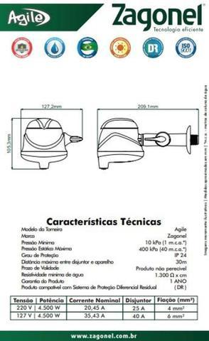 Imagem de Torneira Eletrônica Bancada\parede Touch Zagonel Preta 220v