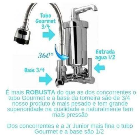Imagem de Torneira Gourmet Cozinha Com Filtro Abs De Parede + 1 Refil