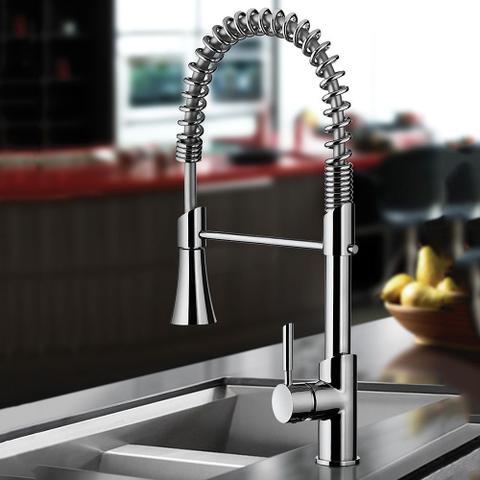 Imagem de Torneira Misturador Monocomando Cozinha de Mesa com ducha especial 2266 C76 LORENKITCHEN Lorenzetti
