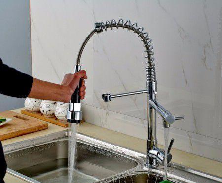 Imagem de Torneira misturador Monocomando Gourmet 72Cm com Ducha spray movel GlobalHome - GH001