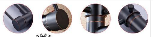 Imagem de Torneira Monocomando Gourmet Black Preto Fosco 50 Cm